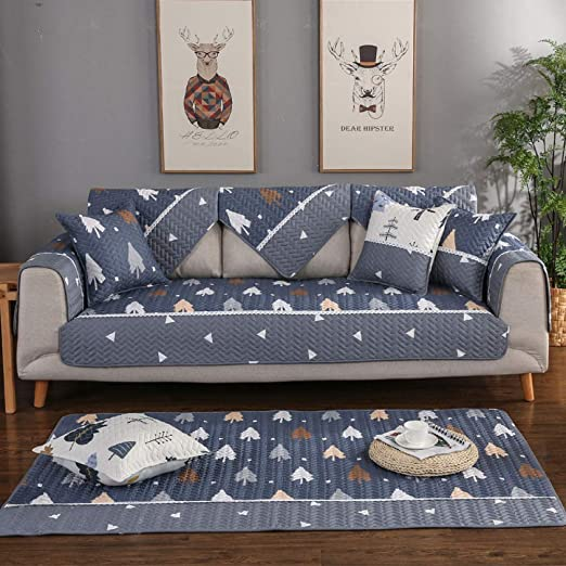 El cojín del sofá antideslizante de algodón impreso simple ...