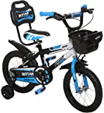 Outplayo™ Bikes M.Star™ Power Bicycle for 3 to 5 Years Kids,14 inches (Blue White Black)