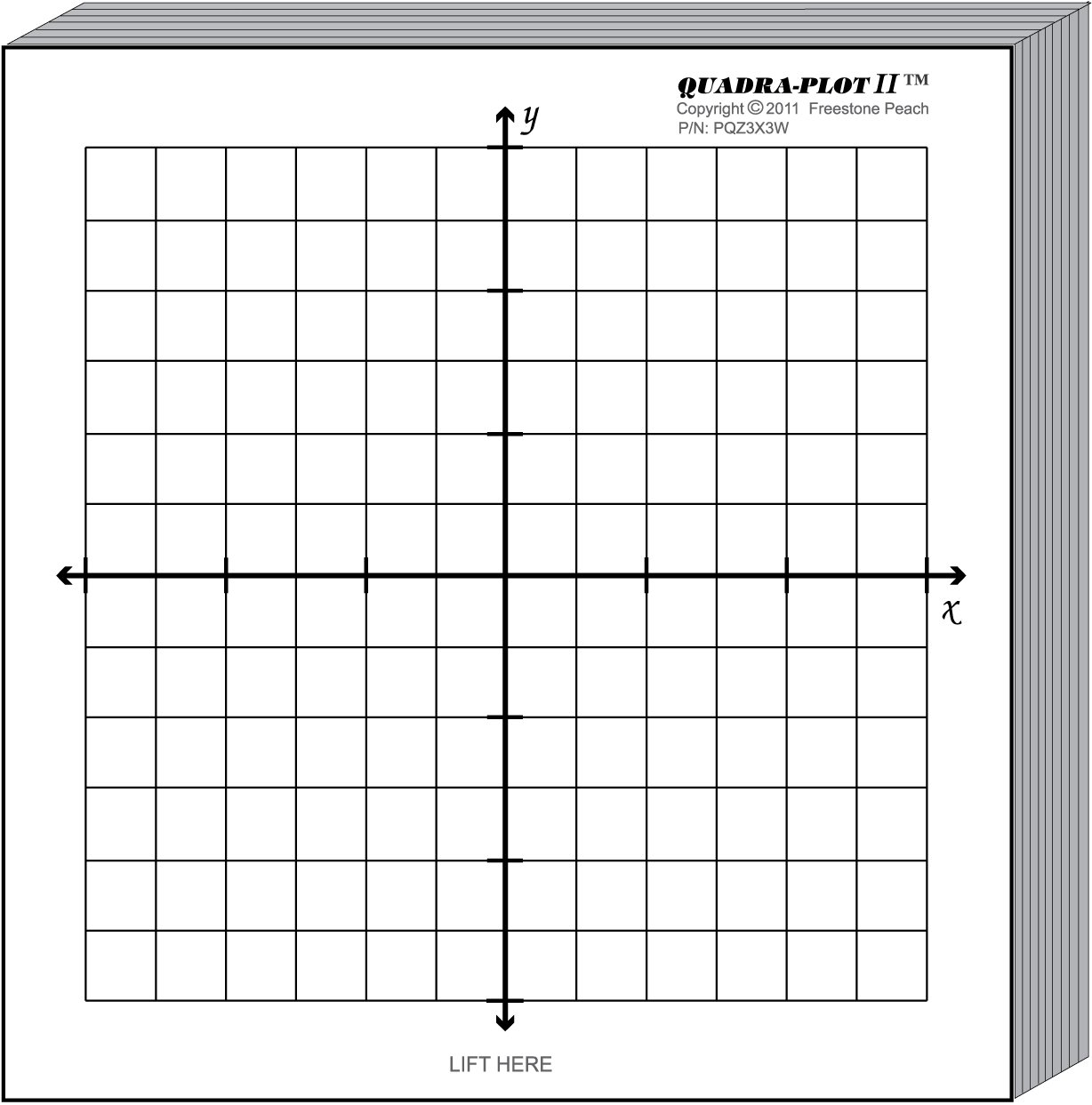 worksheet Coordinate Graph Paper amazon com graph paper kit six coordinate grid designs printed on 3x3 inch post it note pads mounted 8 5 x 11 cardst