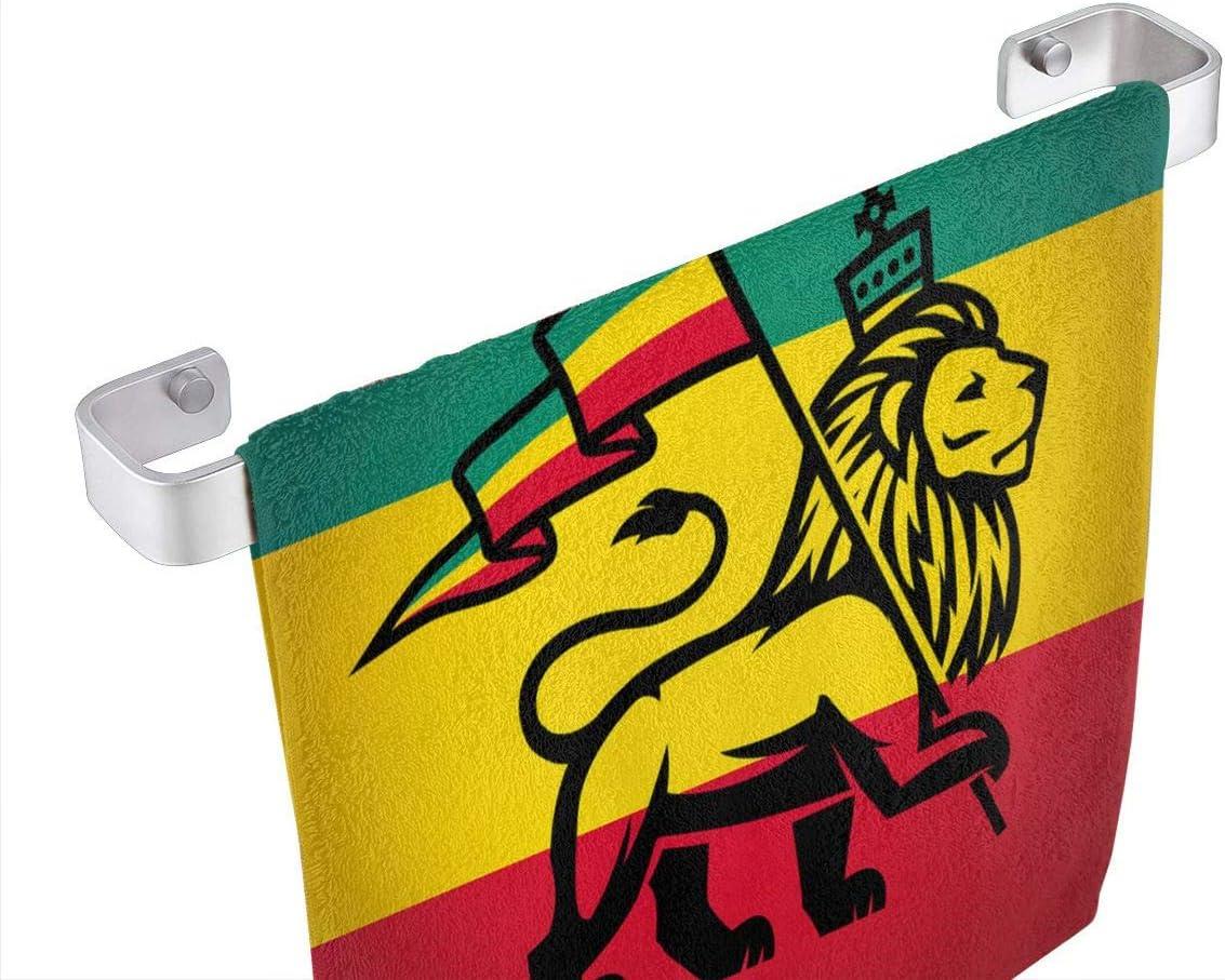 Set 1 Drapeau du Rastafari Microfibre AIZENN Lot de 3 torchons de Cuisine tr/ès Absorbant 33 x 33 cm Noir Roi Jungle Reggae Lavable en Machine