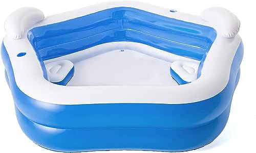 Bestway 54153 Family Pool Fun 213 x 206 x 69 cm, kleur