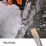 uxcell Flat Chisel 22mm Dia. Masonry Drill Bit