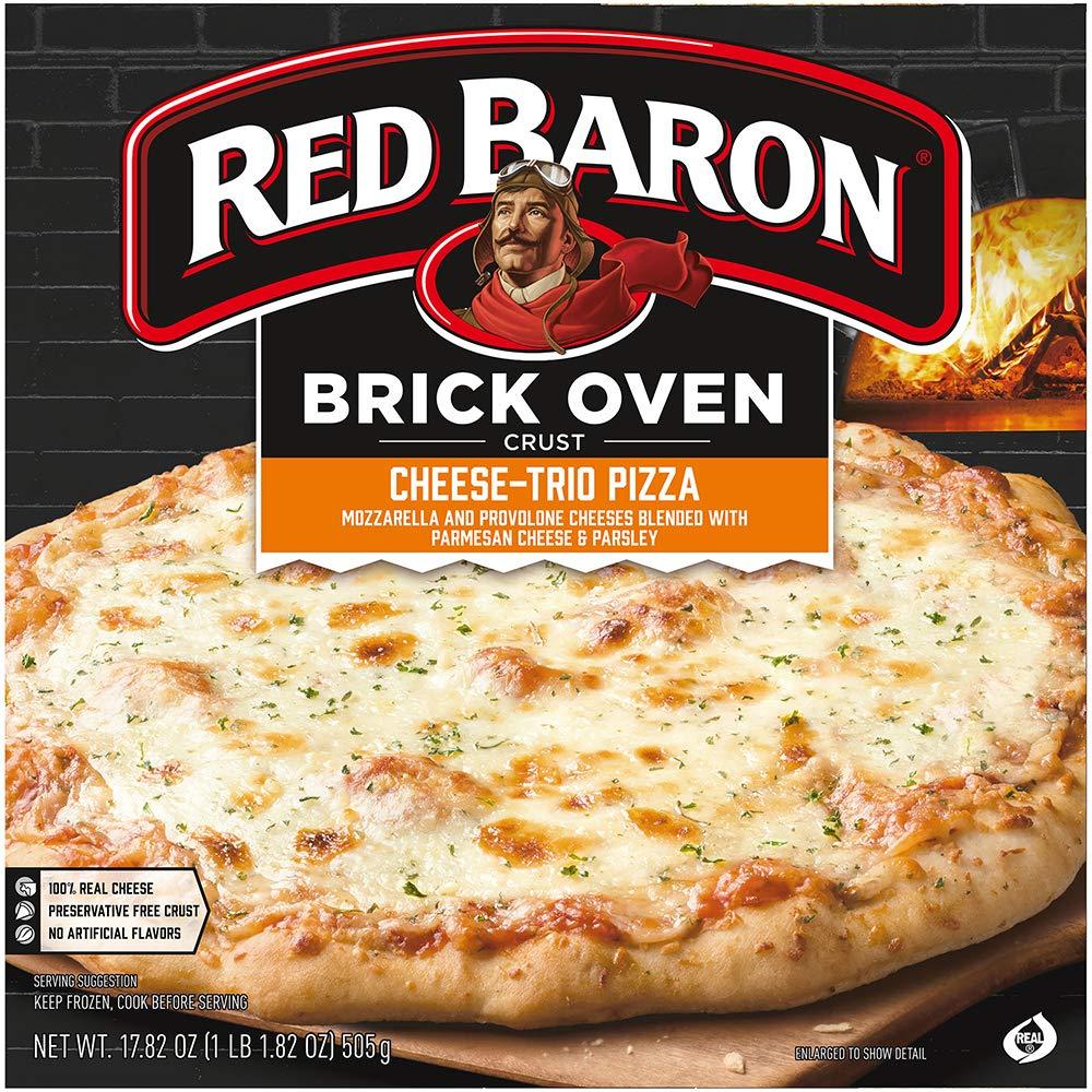 RED BARON Pizza, Brick Oven Crust Cheese Trio, 17.82 oz