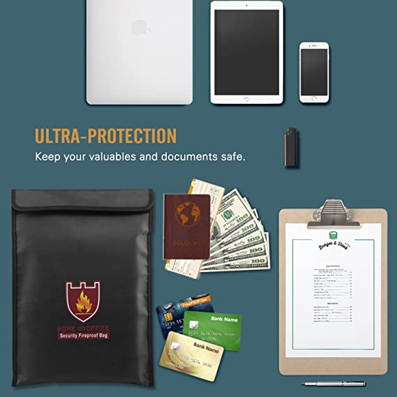 Amazon.com: Luxspire - Bolsa para documentos (fibra de ...