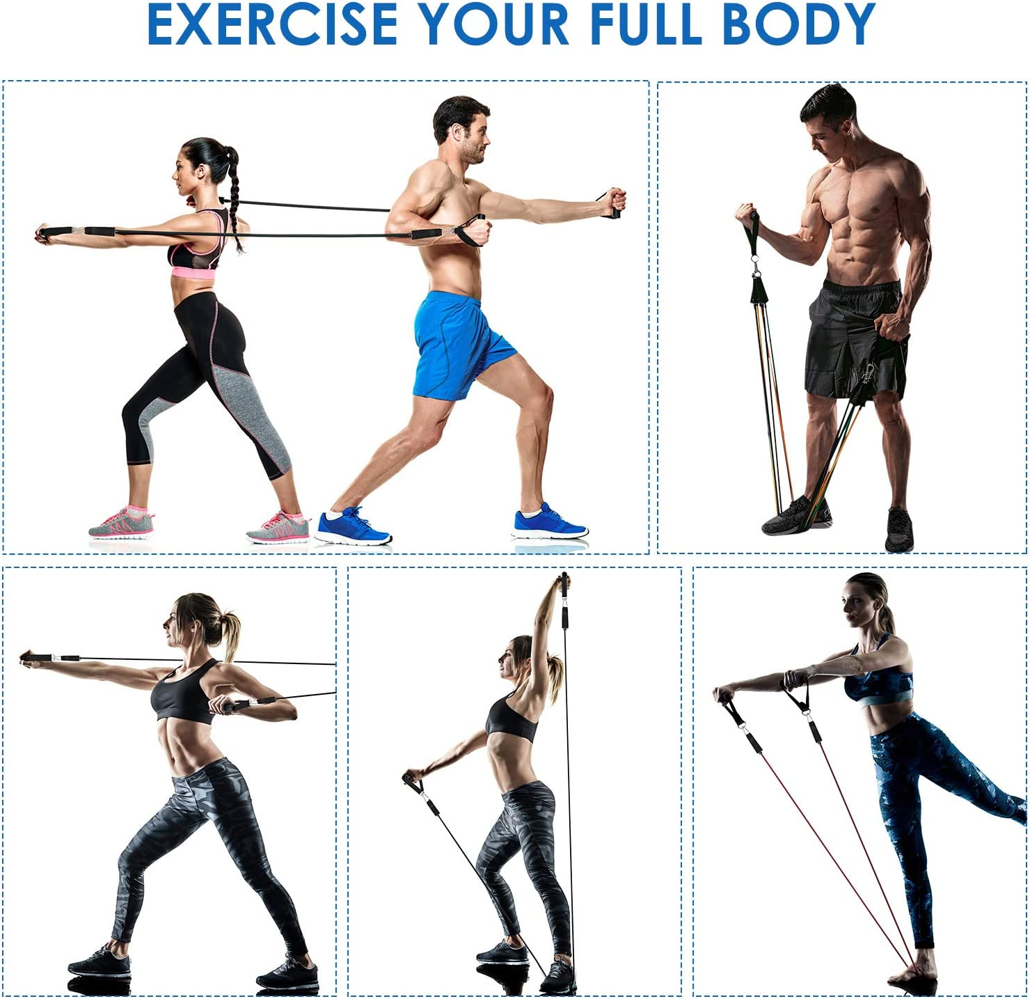Legs Ankle Straps for Resistance Training Exercise Bands with Handles Physical Therapy Fitness Bands Home Gym Equipment for Women Men Carry Bag Resistance Bands Set Workout Bands with Door Anchor