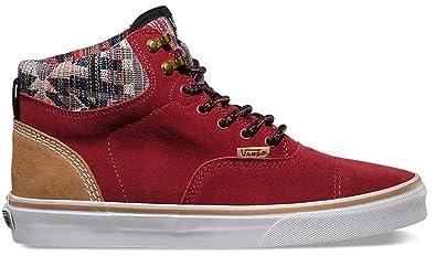 acf215692a7 Vans Men s Era Hi CA Technical Skateboarding Shoes Red Suede Native ...