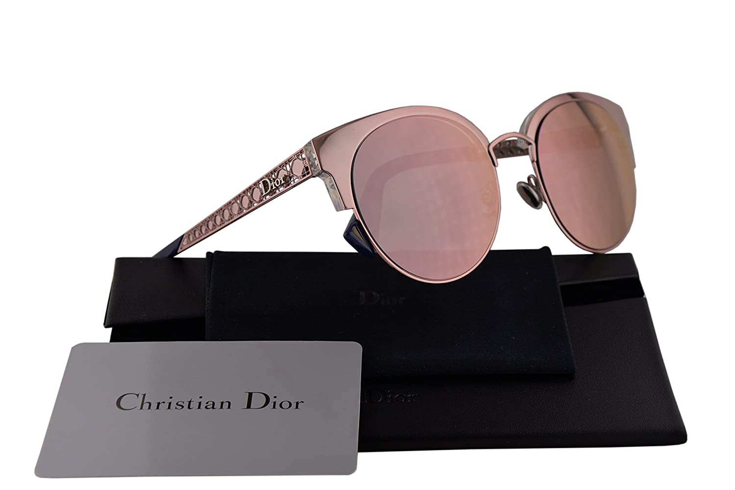 01a37d78e4e5 Amazon.com  Christian Dior DioramaMini Sunglasses Light Pink w Grey Rose  Gold Mirror Lens 50mm S8R0J Diorama Mini DioramaMinis DioramaMini s Diorama  Mini  ...