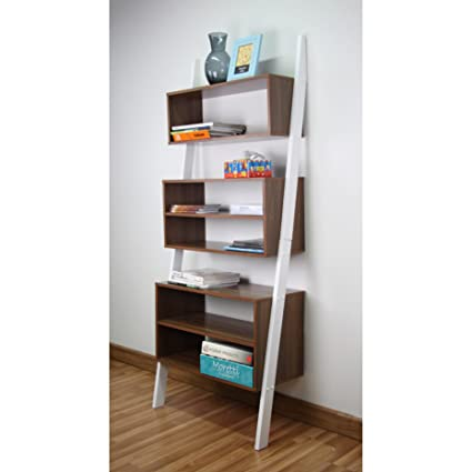 Exceptionnel Mintra Furniture MINT5722OK Two Tone Oak/ White Finished Leaning Ladder  Shelf