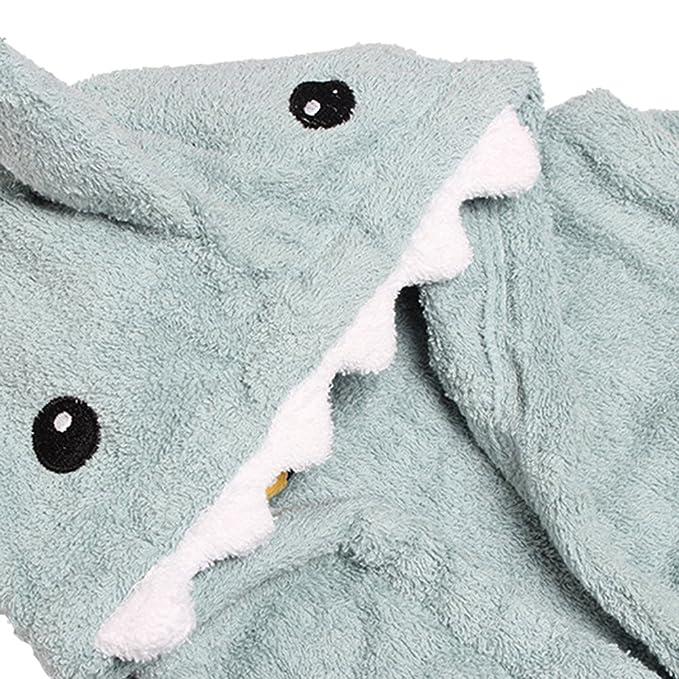 URAQT Albornoz de baño con capa de capucha de mangas largas para bebés, Batas de