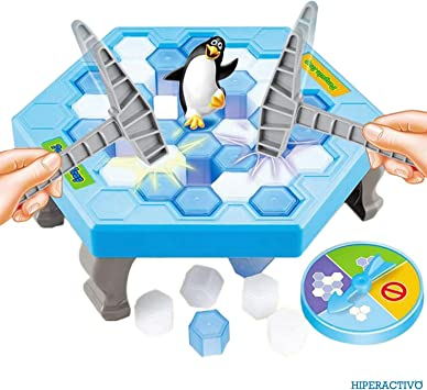 Salva al Pingüino en los cubos de Hielo Mini juego de mesa de Hiperactivo para niños y familia equilibrio, habilidad y estrategia en cada partida: Amazon.es: Juguetes y juegos