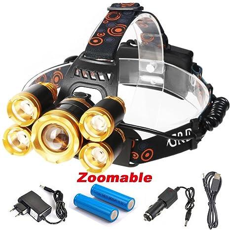 CREE 5 LED XML T6 Headlight 15000Lumens Zoomable Headlamp Flashligh Keku Led Circuit Wiring on