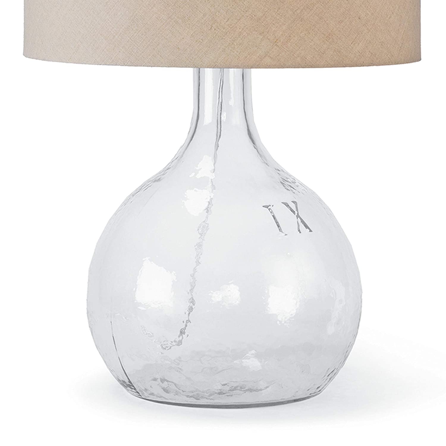 Amazon Com Regina Andrew Glass Clear Glass Table Lamp With Linen