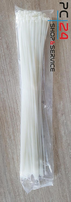 Nero Risparmio Fascette per cablaggio 2,5 x 100 mm Stringicavo 1000pz PC24 Shop /& Service Qualit/à Superiore