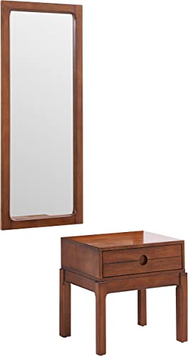 Entryway Table and Mirror Set – 2 pcs Wood Set – Hanging 3 4 Mirror