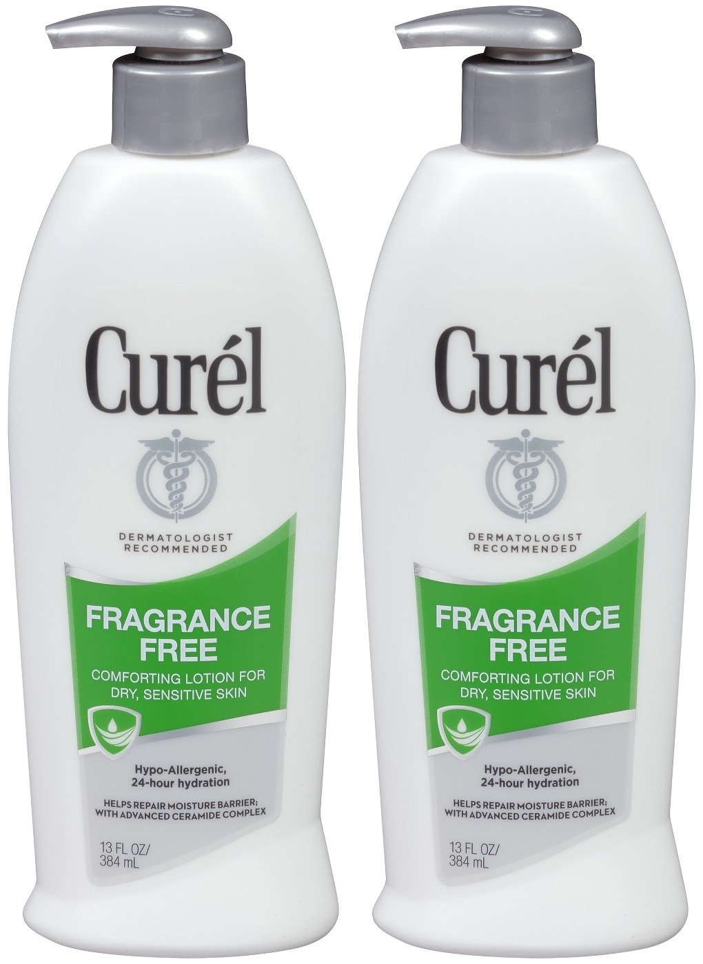 Curel Advanced Ceramide Therapy Original Lotion for Dry & Sensitive Skin, Fragrance Free, 13 Oz (Pack of 2)