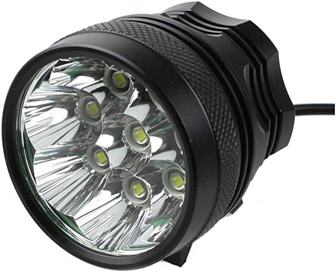 RYMEBIKES Foco LED Bicicleta 8000 LM / 8800MAH / Waterproof ...