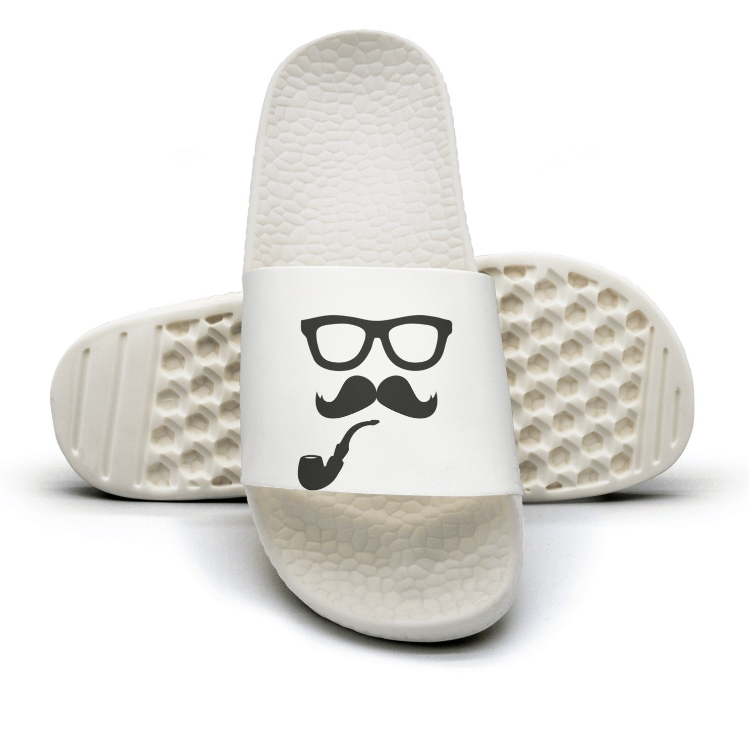 Moustache Glasses Pipe Women's Fashion Slippers Sandals Casual