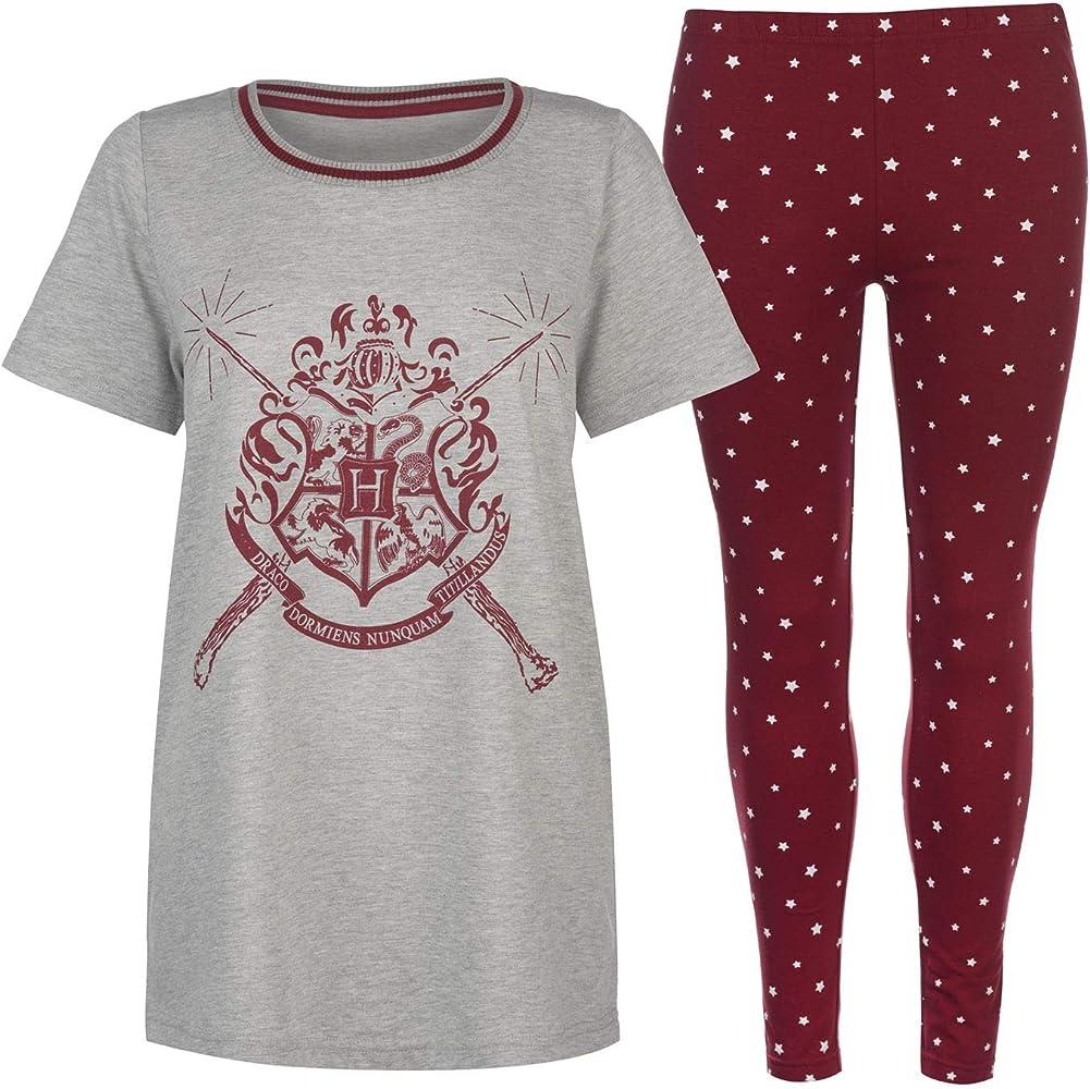 Harry Potter Gryffindor - Pijama - para Mujer Gris Grey Scarlet S ...