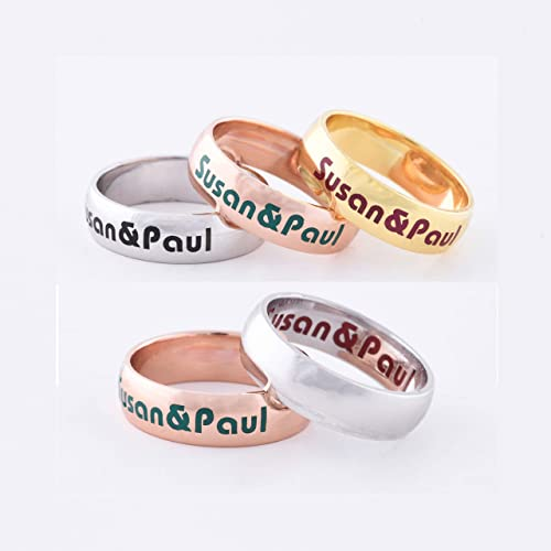 Personalized Sterling Silver Handmade NAME ring