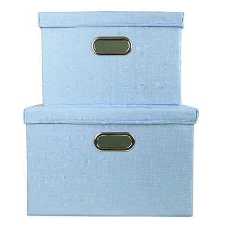 BB.er Plegable Lavable de algodón y Lino Caja de Almacenamiento de Tela Caja de