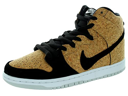 new arrival 98514 7b5a6 Nike Mens Dunk High Premium SB  quot Cork quot  Black Hazelnut-White  Synthetic