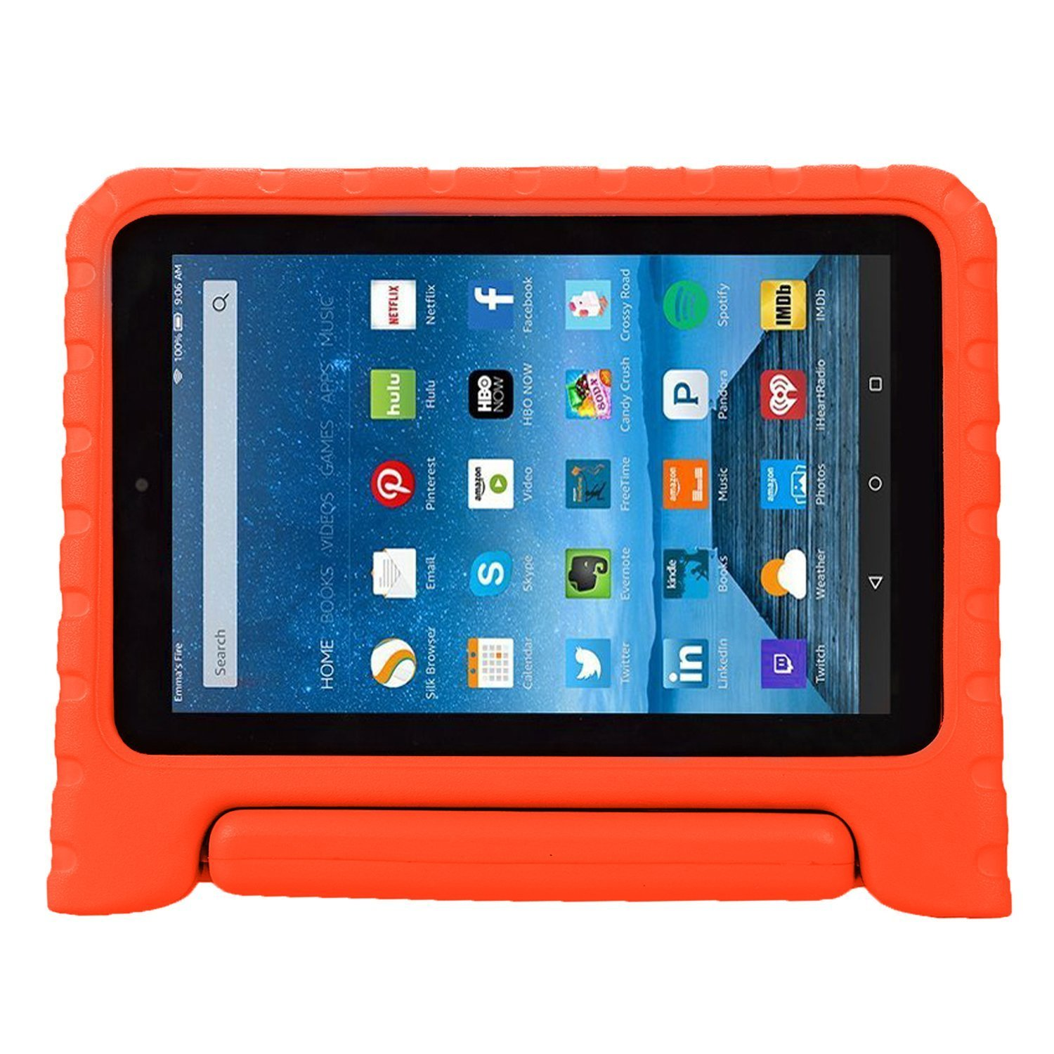 Purple 5th Gen-2015 Release /& 7th Gen-2017 Release Fire 7 2015 Case,Fire 7 2017 Case,Grand Sky Super Light Weight Shock Proof Handle Protective Stand Kids Case for Fire 7 inch Display Tablet