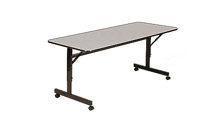 Correll FT2460M 15 EconoLine Flip Top Table, 24u0026quot; X 60u0026quot;, Adjustable