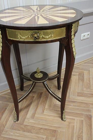 LouisXV Barock Tisch Antik Stil Beistelltisch AaTa0113 Antik Stil  Massivholz. Replizierte Antiquitäten Buche (Ahorn