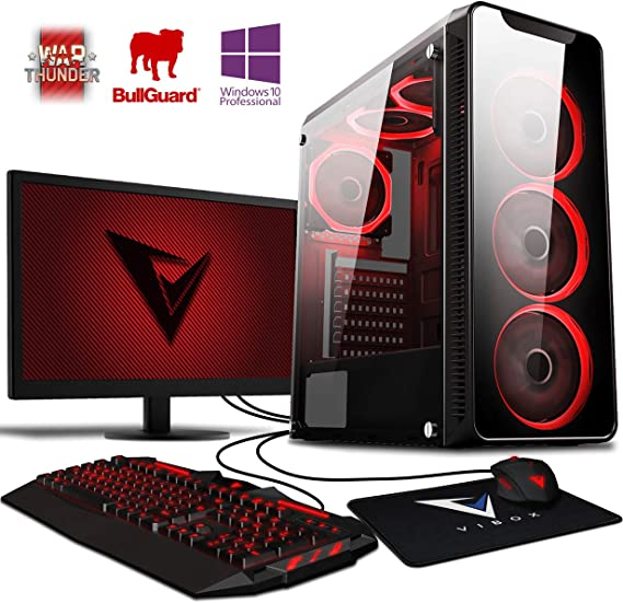 TALLA 32Gb RAM, 2Tb HDD, Windows 10. Vibox Precision 6XLW - Ordenador de sobremesa (AMD FX-4300, 32 GB de RAM, 2000 GB, Nvidia GT 730, Windows 10), Color Negro - Kit con Monitor de 22