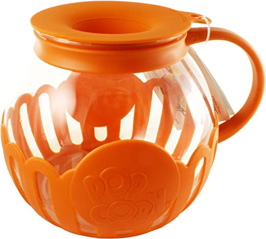 Ecolution Micro-Pop Microwave Popcorn Popper 3QT Temperature Safe Glass w//Mult
