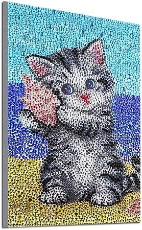 5D DIY Full Drill Diamond Painting Cat Cross Stitch Embroidery Mosaic Kit