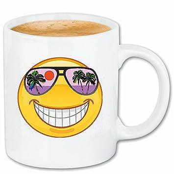 Taza párrafo café SONRIENTE EN vacaciones en Hawai con gafas ...