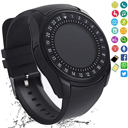 FashionLive Smart Watch Bluetooth Smartwatch Touch Screen Camera Pedometer SIM Card Slot Text Call Sync Women Men Kids Phone Mate Compatible with ...