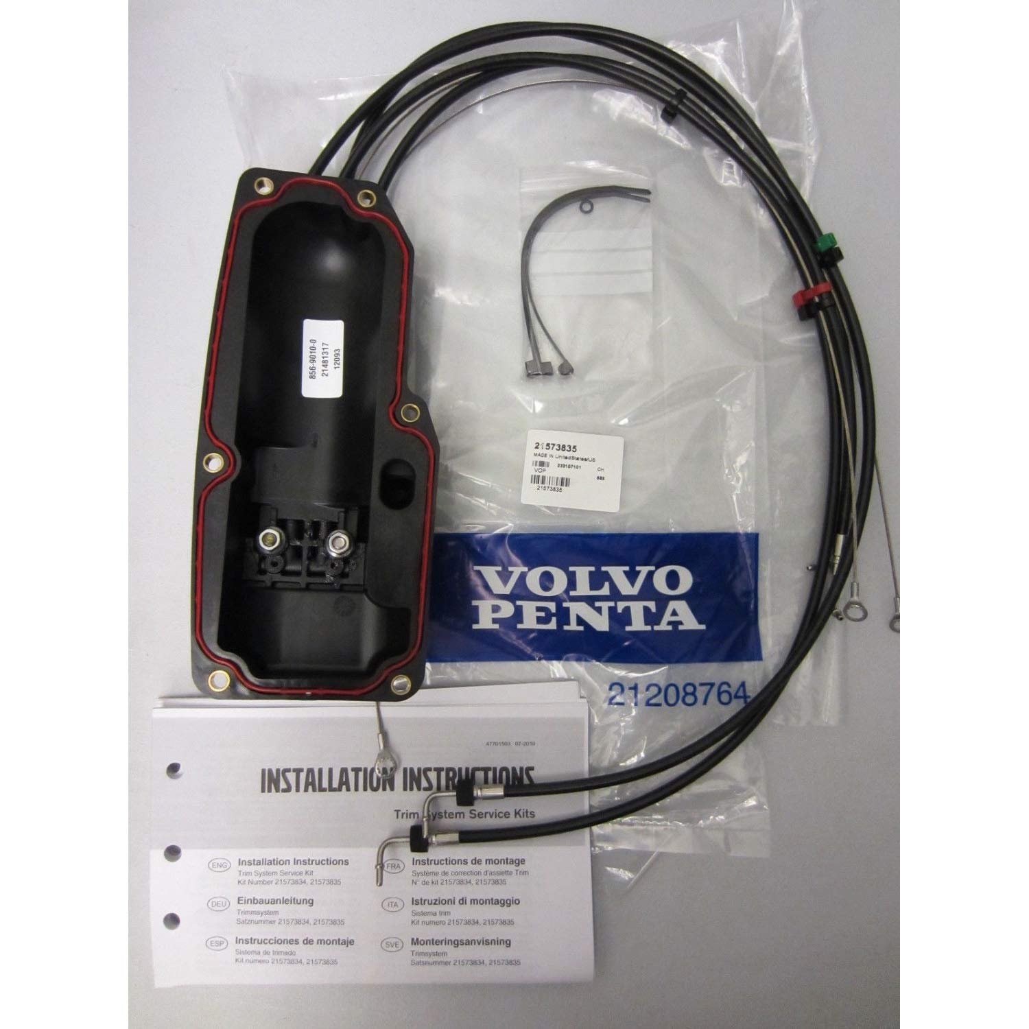 Volvo Penta Oem Trim Tilt Pump System Repair Kit New Outdrive Wiring Diagrams 21945911 Second Design Cover Old 21573835 Sports Outdoors