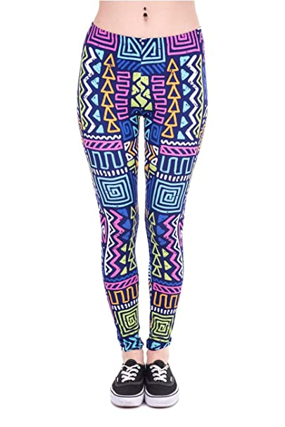 0a7ca855e8865 Kukubird Printed Patterns Women's Yoga Leggings Gym Fitness Running Pilates  Tights Skinny Pants Size 6-