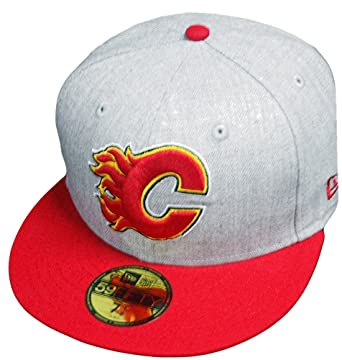 6806aff4733 Amazon.com  New Era Calgary Flames Heather Cap 59fifty 5950 Fitted Special  Limited Edition  Clothing