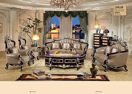 Amazon.com: Leather Home Furniture Sofa Set Living Room With ...