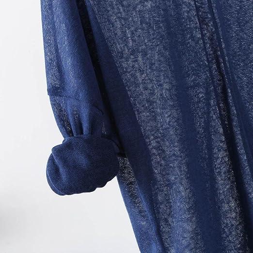 Blusa de Mujer Sexy Covermason Suéteres Que Tejer de Las Mujeres de Manga Larga con Cuello en V Floja Ocasional Blusa Tops: Amazon.es: Ropa y accesorios