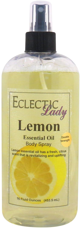 Lemon Essential Oil Body Spray (Double Strength), 2 ounces Eclectic Lady