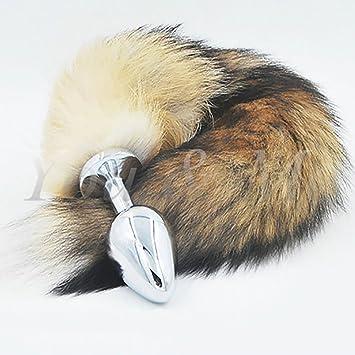 ed2328f09 Anal Toys New Big Anal Plug Fox Tail Stainless Steel Butt Plug cat Tail  Anal Plug