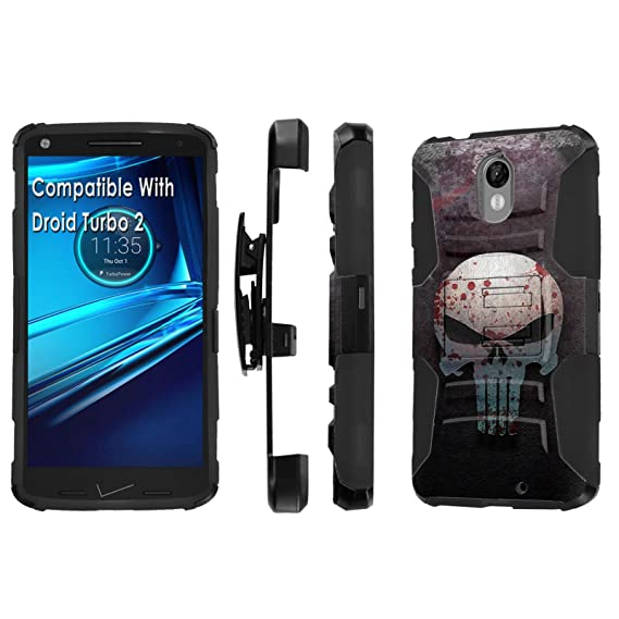 Moto [Droid Turbo 2] Armor Case [SlickCandy] [Black/Black]