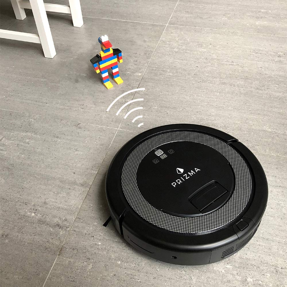 CleanMate QQ6 - Prizma Edition Robot Vacuum Cleaner with Remote Control, Smart Scheduler, Drop and Obstacle Sensor, Multi-Pattern Cleaning, and Self-Charging for Carpet and Hard Floor (Black) by CleanMate (Image #5)