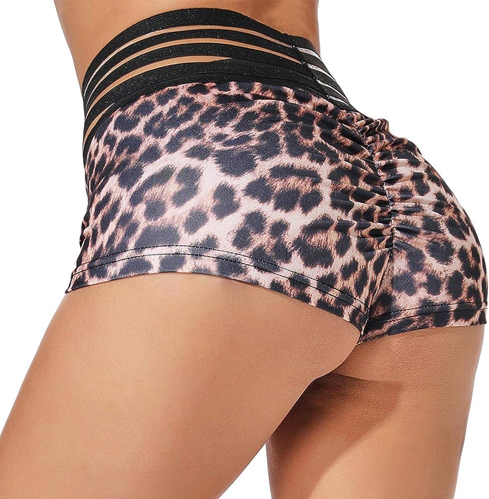 YOFIT Women Yoga Pants Sport Gym Running Casual Elastic High Waist Workout Shorts Hot Pants Tummy Control
