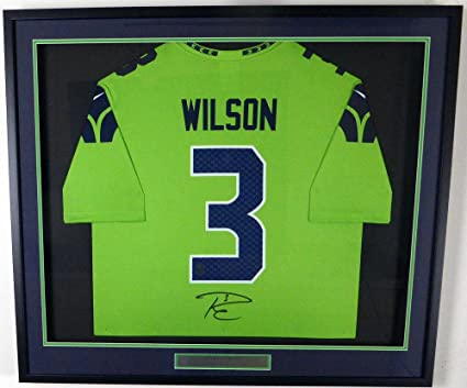super popular 86e46 041c7 low price russell wilson framed jersey 815fb 477fe