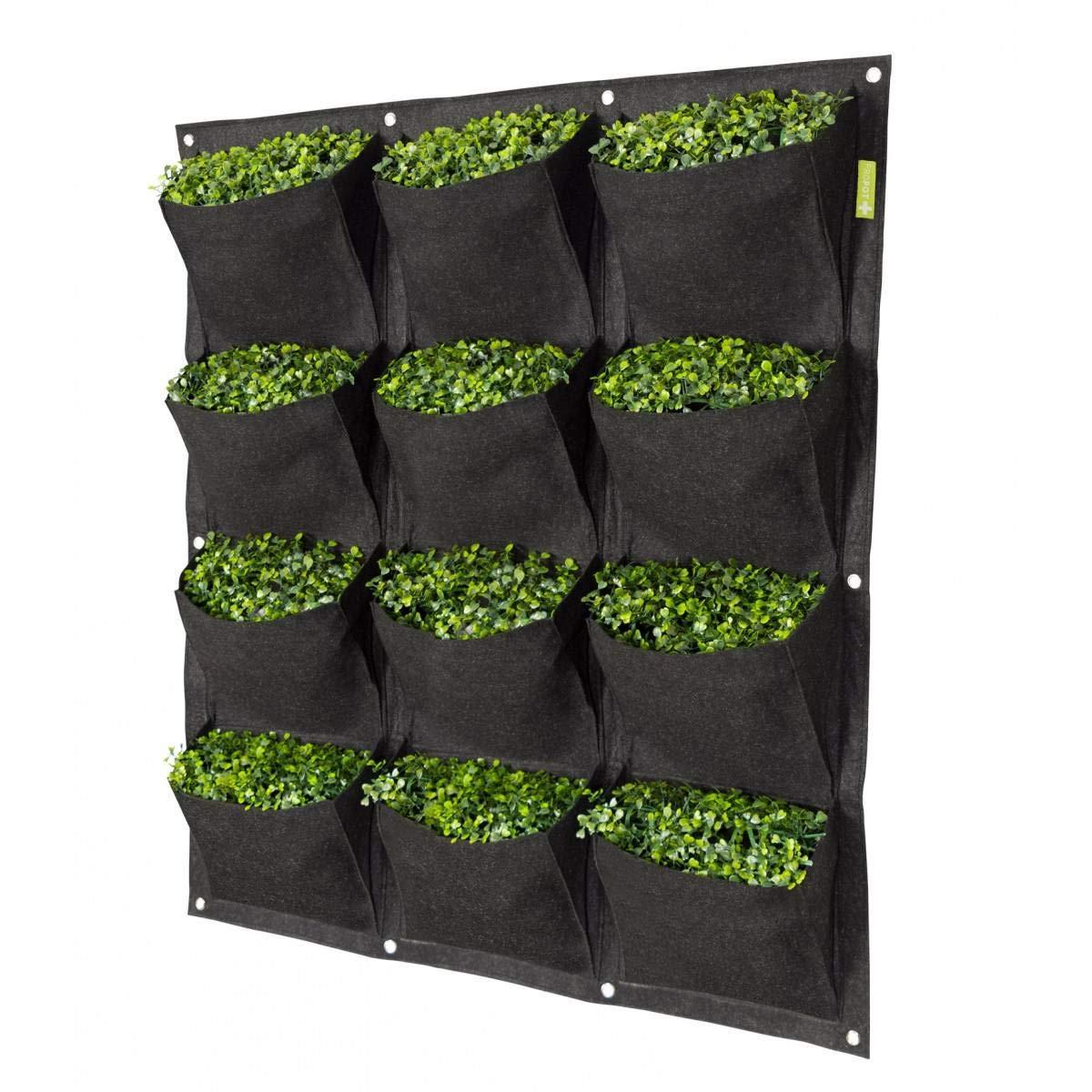 Garden HighPro - Vaso da Parete vegetale, Decorazione da Parete, 12 Tasche, 90 x 100 cm