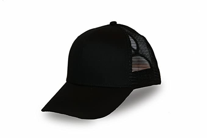2dbb29c6 C.C. Ponytail Hat Messy Bun Hat Ponycap Ponytail Hat for Women (Black)