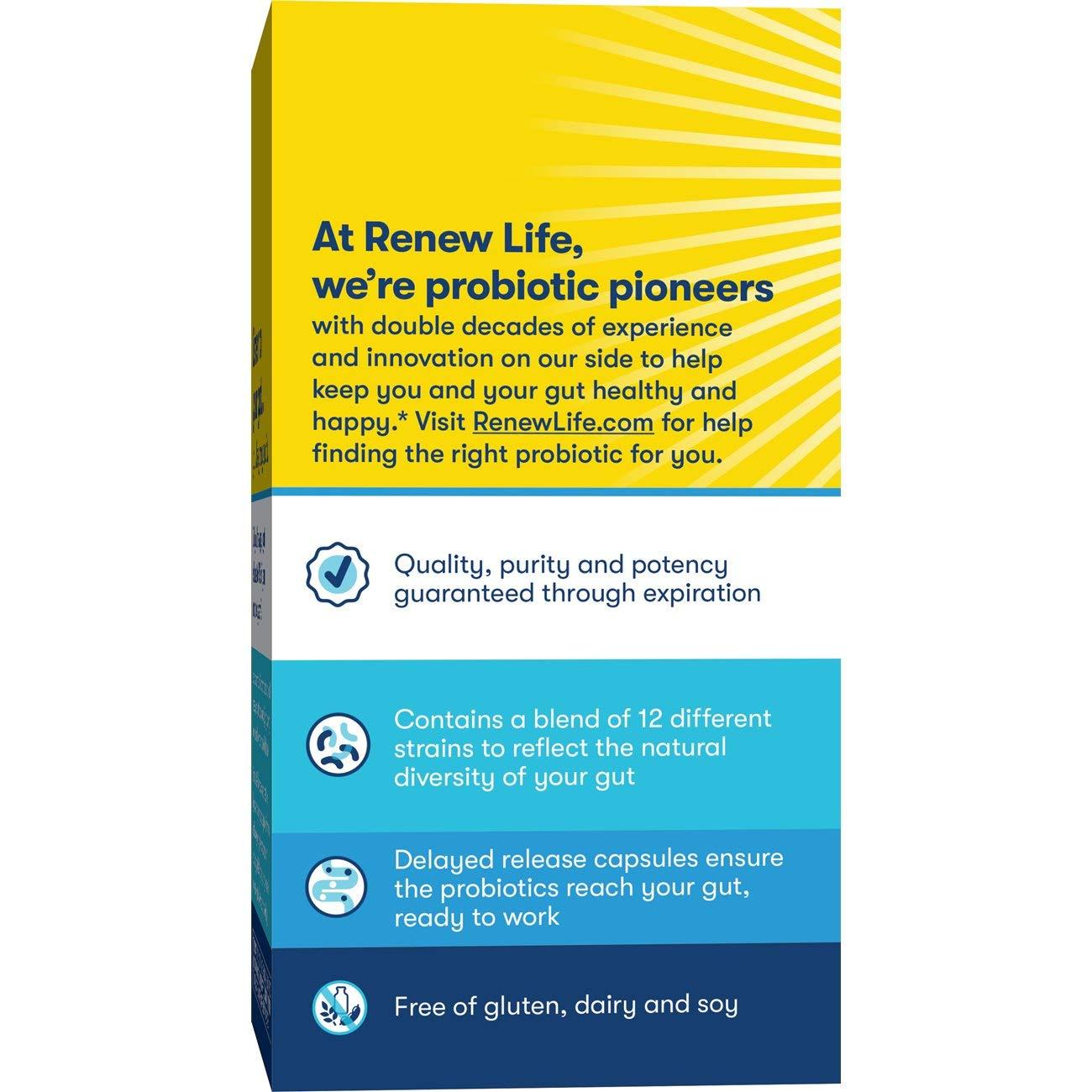 Amazon.com: Renew Life Renew Life Pro-Care Flora 30b Probiotic, 30 Billion Cfu, 30 Vegetarian Capsules, 30 Count: Health & Personal Care