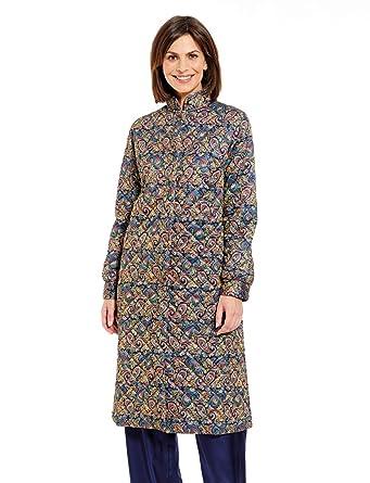 Robe De Chambre Matelassée Pour Femme Bleu Uk 18 20 Eu 46 48