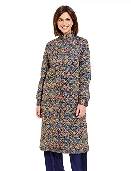 Robe De Chambre Matelassée Pour Femme Bleu Uk 18 20 Eu 46