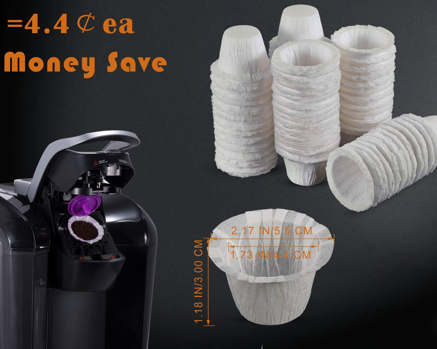 1 Disposable Coffee Filters 360 Counts Coffee Filter Paper for Keurig Brewers Single Serve 1.0 and 2.0 Use with All Brands K Cup Filter